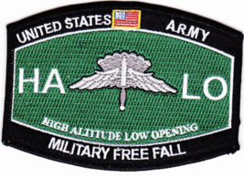 "4.6"" Army High Altitude Low Opening Free Fall Mos Embroidered Patch - $23.74"