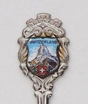 Collector Souvenir Spoon Switzerland Matterhorn Alps Alpine Swiss Chalet Flag - $9.98