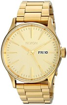 Nixon The Sentry Gold Dial Stainless Steel Quar... - $152.00