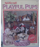 "Plastic Canvas Leaflet ""Playful Pups"" - $5.00"