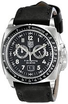 Luminox P-38 Black Dial SS Leather Chronograph ... - $575.00