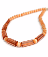 Peach Orange Necklace and Earrings Jewelry Set - $24.90 - $26.90