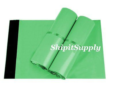 2.5 Mil 1-1000 9x12 ( Green ) Color Poly Mailers Shipping Boutique Bags