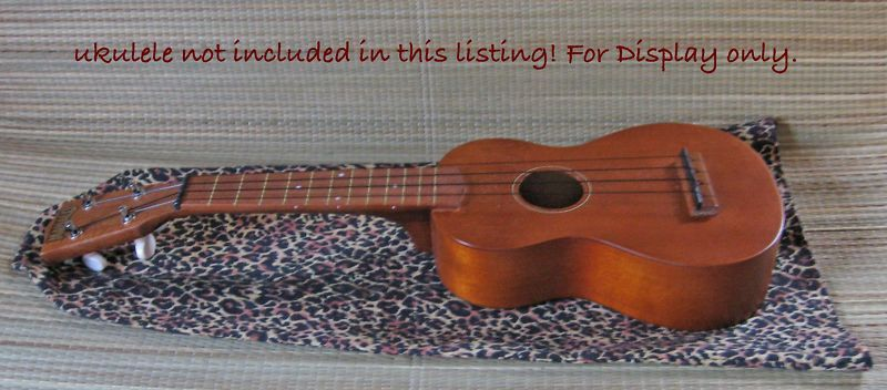 Primary image for Ukulele Dust Jacket/Soprano Size/Leopard Print