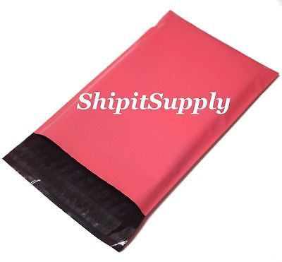 2.5 Mil 1-1000 12x15.5  ( Pink ) Color Poly Mailers Shipping Boutique Bags