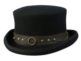 NEW Conner MAD HATTER Australian Wool Satin Lined STEAMPUNK Top Hat Blac... - €76,97 EUR