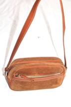 Coach  Suede Brown Leather Purses Vintage handbag - $30.00