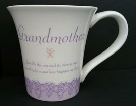 Elegant Grandmother Coffee Mug Tea Cup by Russ Berrie Butterflies Pink F... - $24.99