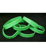 Green Awareness Bracelets 6 Piece Lot Silicone Jelly Wristband Cancer Ca... - $7.81
