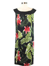 NWT Kim Rogers Black Boatneck Floral Pink Hybiscus Shift Dress 20W $80 - $808,40 MXN