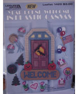 "Pattern Leaflet "" Year Round Welcome in Plastic Canvas"" Door Decoration - $5.00"
