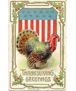 Thanksgiving Greetings Vintage Post Card - $6.00