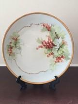 Vintage Thomas Bavaria Grapes Gold Trim Handpainted Porcelain Collectors... - $18.48