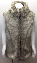 GAP Kid Girl Fur Vest Reversible Faux Hair / Nylon Brown 8 M Outerwear W... - $26.81