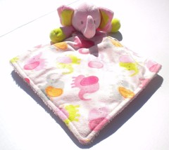 Rare HTF ALL Pink Green Blankets & Beyond Elephants Lovey Security Baby ... - $39.31 CAD