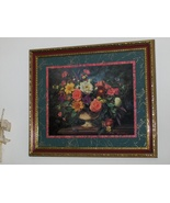 Large Home Interior Beautiful Floral Picture By... - $79.97
