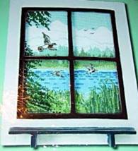 Cottage Collection Duck Pond Window Counted Cross Stitch Kit 380020  NIP - $15.99
