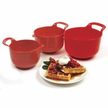 Norpro Mixing Bowls, Red, Set of 3 - $296,98 MXN