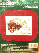 Sounds of Christmas Counted Cross Stitch Kit 33202  NIP Bucilla - $8.99
