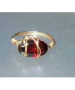 East West Garnet Ring Solitaire Pinky Midi Band... - $129.00