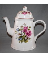 Arthur Wood England 6509 Floral Coffee Pot with Gold Trim    #1542 - $58.00