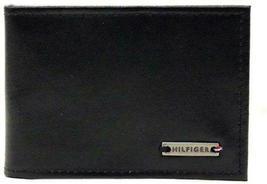 NEW TOMMY HILFIGER MEN'S LEATHER CREDIT CARD WALLET MONEY CLIP BLACK 31HP16X001 image 4