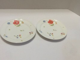 Mikasa Just Flowers Bone China Set of 2 Bread & Butter Plates A4-182 Japan - $11.30