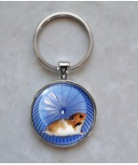 Hamster on Wheel Running Cute Tiny Animal Keychain - $14.00+