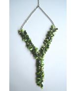 Enchanting Forest Green Seashells And BeadS Statement Nautical Shells Ne... - $29.90
