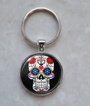 Sugar Skull Dia De Los Muertos Calavera Keychain - $14.00+