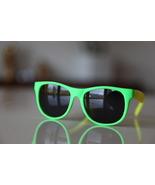 Classic Tortoise Sunglasses Neon Lime/ Rubber/ ... - $14.00