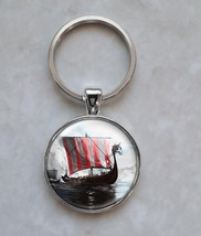 Viking Ship Sailing Sea Ocean Medieval Norse Sacandinavia Keychain - $14.00+
