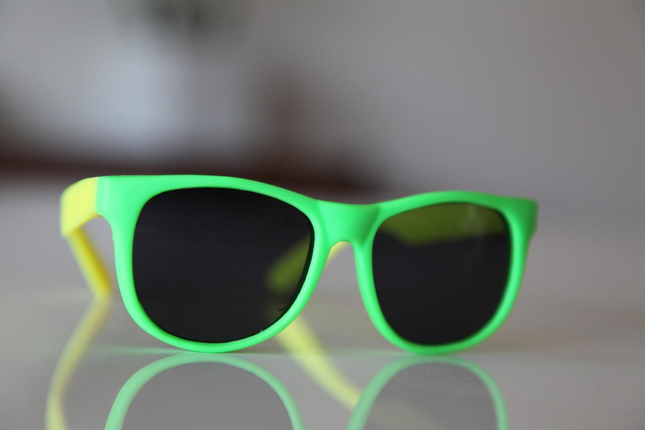 Classic Tortoise Sunglasses Neon Lime/ Rubber/ Lemon Green/ Dark Lenses