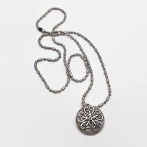 Ann Peden Decorated Coin Pendant Necklace - $5.89