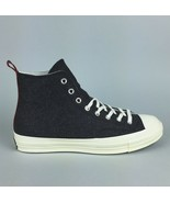 New Converse CTAS 70 Hi Top Sneakers Men's Sizes Black Egret Wool 157481C - $47.99