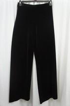 Alex Evenings Pants Sz XL Solid Black Velvet Wide Leg Cocktail Dinner Pa... - $39.53
