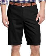 Tasso Elba Mens Shorts Sz 42 Black Flat Front Basic Casual Mens Dress Sh... - $29.73