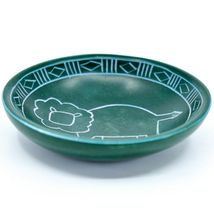 Tabaka Chigware Hand Carved Kisii Soapstone Green Lion Trinket Bowl Dish Kenya image 3