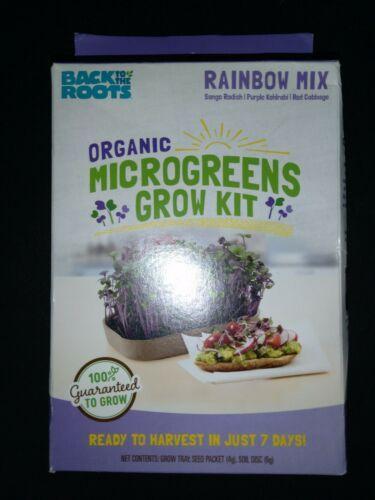 Back To The Roots Organic Microgreens Grow Kit ~ Rainbow Mix  New (1 kit per box