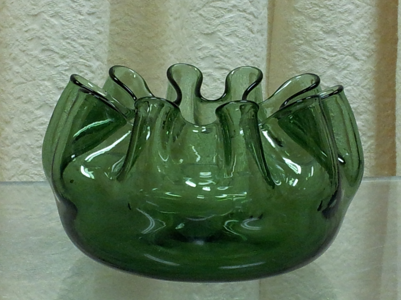 Vintage blenko ruffled green glass and 15 similar items reviewsmspy