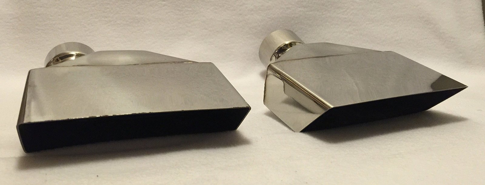"2.5"" POLISHED STAINLESS STEEL CUDA EXHAUST TIPS - PAIR"