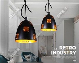 Industrial Patch Pendant Riveted E27 Light Ceiling Lamp Home Lighting Fixture - $66.43