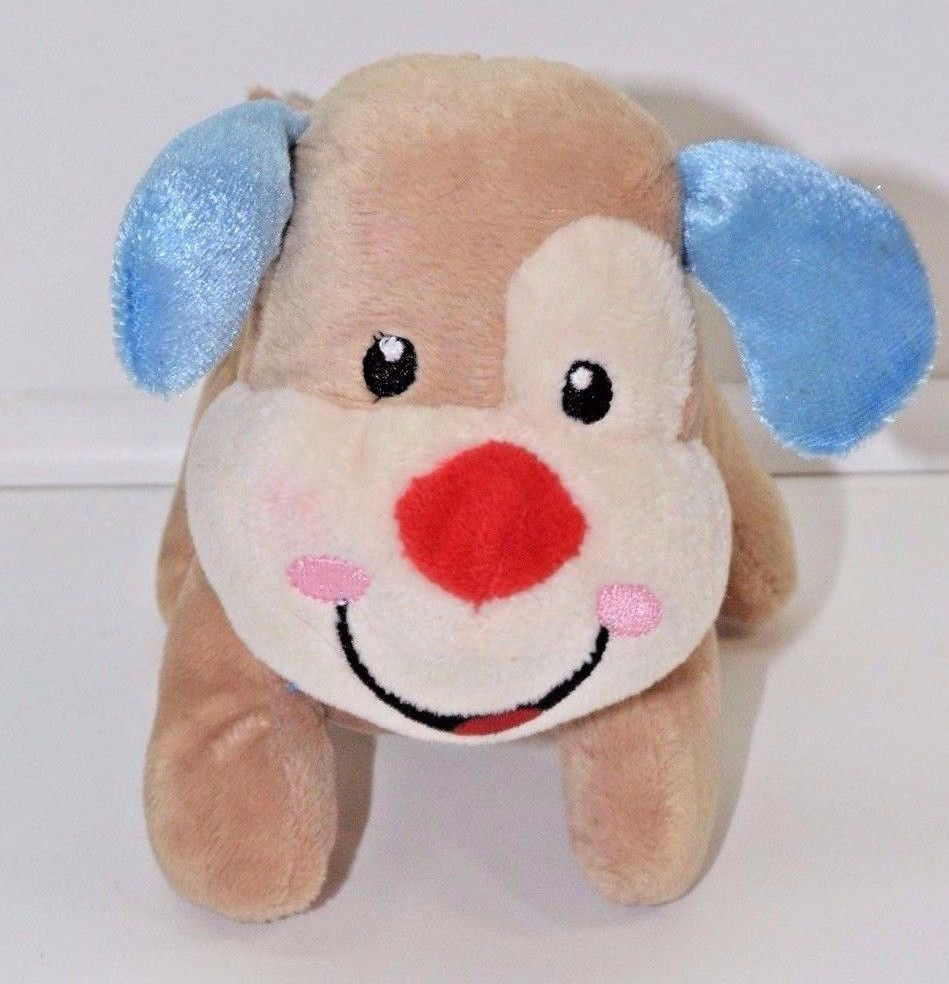 Blue Baby Toys : Fisher price dog plush brown blue ears red nose laugh