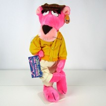 Vintage Pink Panther Stuffed Toy Touch of Velvet With Tags Mighty Star Inc - $23.01