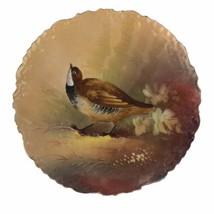 Antique Limoges B & H France Hand Painted Game Bird Plate Porcelain 10-1... - $102.53
