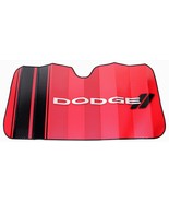 Dodge Elite Red Windshield Sun Shade Sunshade Accordion Bubble Screen - $24.95