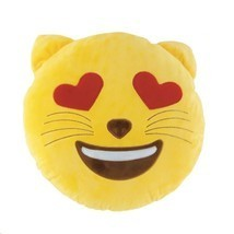 Emoji Cat Throw Pillow - $19.75