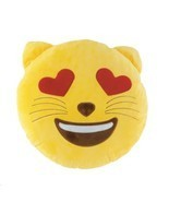 Emoji Cat Throw Pillow - $370,16 MXN