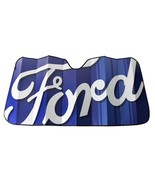Ford Script Blue Windshield Sun Shade Sunshade Accordion Bubble Screen - $24.95