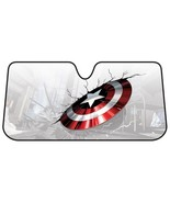 Marvel Captain America Broken Shield Windshield Sun Shade Sunshade Screen - $24.95